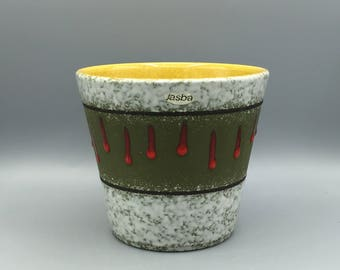 Jasba Keramik Mid Century medium size, original 1960s vintage  Planter     West Germany. WGP.