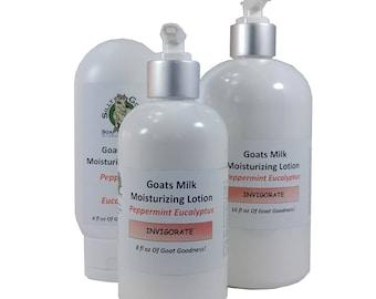 Peppermint Lotion, homemade lotion, Eucalyptus Lotion, Goat Milk Lotion, Goats Milk Lotion, Hand Lotion, body lotion, natural body lotion