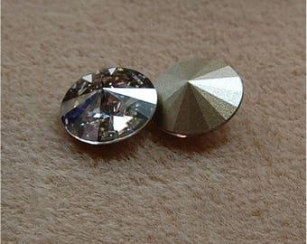 SWAROVSKI Rivoli's, 14mm, Crystal Silver Shade, sold as a unit of 2 pieces.
