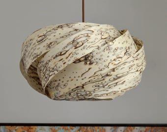 New!Pendant Light//Beautiful NEST Pendant light,engineered white ice tree veneer/,pendant lighting,ceiling light-chandelier lighting