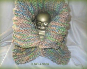 fancy knit collar
