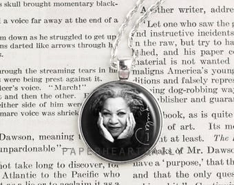 Toni Morrison - Literature - Author Jewelry - Women Writers - Book Jewelry - Literary Jewelry - Feminism - Book Gifts - Beloved -  (A4667)