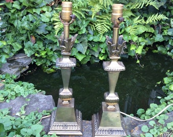 Vintage Brass Lamps, Pair of Lamps, Cambridge Brass Lamps, Pair of Brass Lamps, Vintage Table Lamps