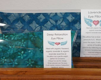 Lavender and Deep Relaxation Yoga Eye Pillow SET