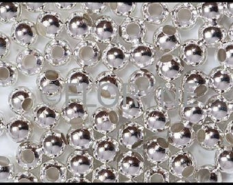 20 round 6Mm antique silver Metal beads
