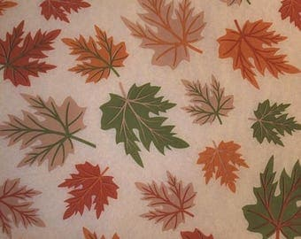 "Fall Leaves / Leaf Tissue Paper # 353 / Gift Wrap  - - 10 large sheets ... 20"" x 30"" --- Fall Harvest"
