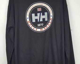 Vintage HELLY HANSEN big logo spell out sea gear sailing sweatshirt