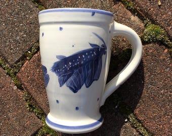 Blue on White koi mugs