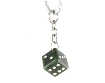 Canadian Nephrite Jade Keychain, Lucky Die