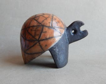 "Ceramic sculpture ""Turtle"", Raku sculpture, turtle figurine, Raku ceramics, original gift, art, figurine, collection, reptiles, pet products"
