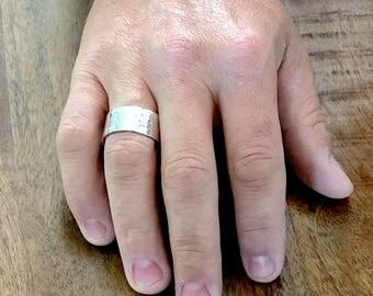 Men's silver ring, men's ring, Silver ring, Men's Sterling silver ring band, Men's jewelry, Men's bands, rings for men