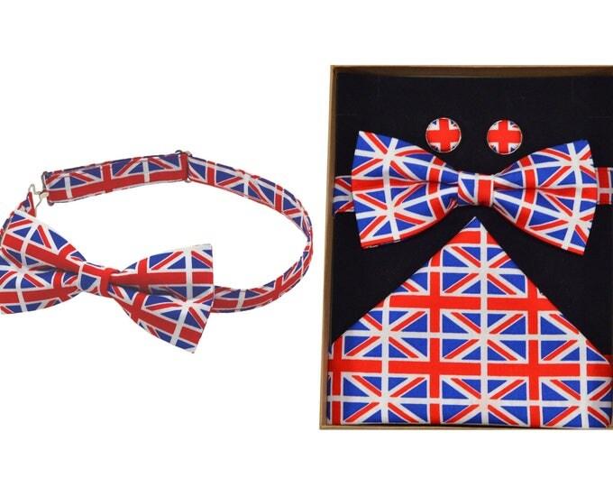 Union Jack Bow Tie & Boxed Gift Set