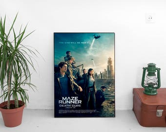 """Maze Runner The Death Cure Movie Poster - Wes Ball Film - Starring  Rosa Salazar - Art Print Size 13x20"""" 24x36"""" 27x40"""" 32x48"""""""