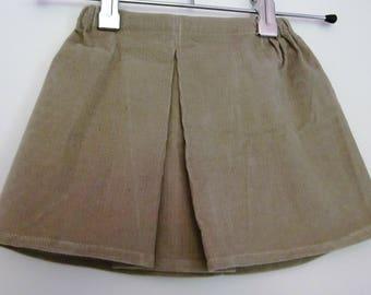 Skirt velvet Bohemian style for girl