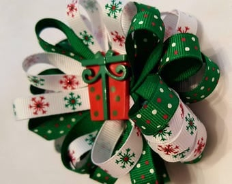 Christmas loop puff bow
