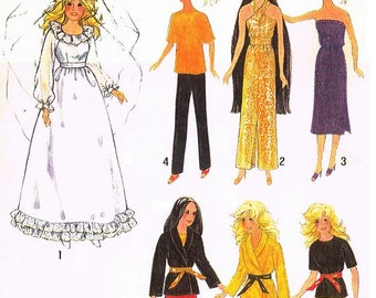 "Wardrobe Pattern for Cher, Farrah, Barbie, and other 11-1/2"" - 12-1/2"" Dolls"