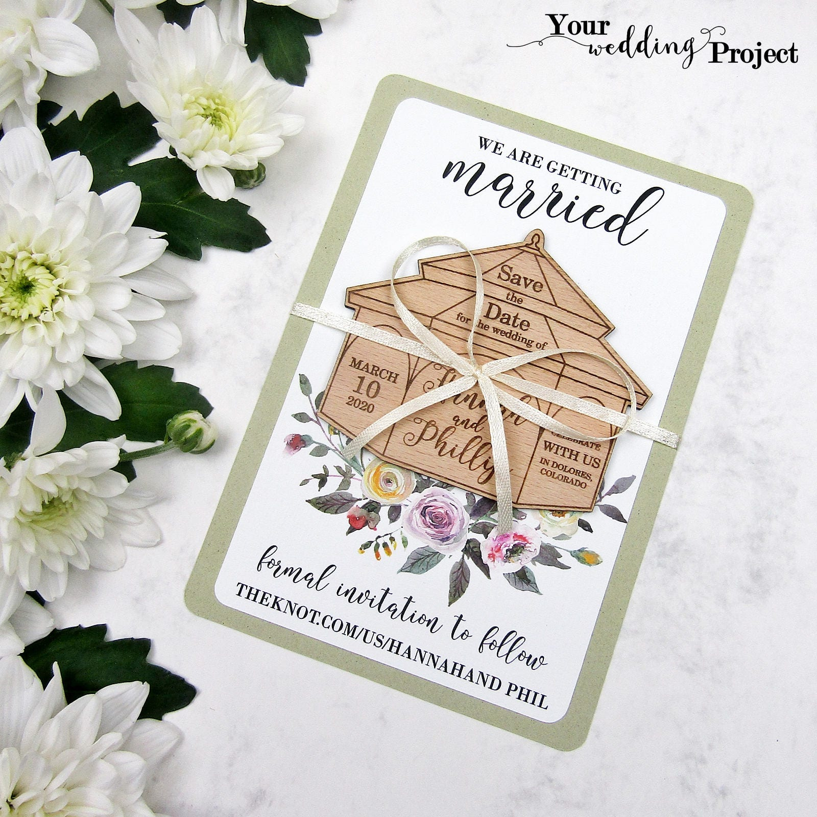 Save the Date Magnet, Gazebo Save the Date, Wood Save the Dates ...