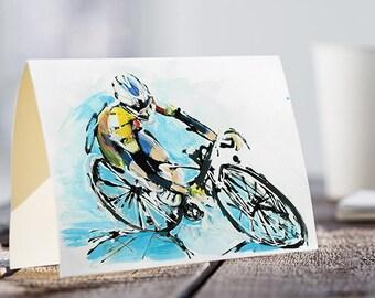 A5 Card with a cyclist | AIR FAST