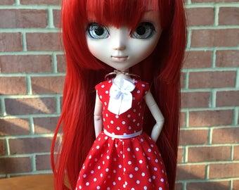Red polkadot Pullip doll dress