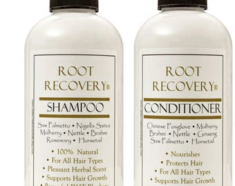 Root Recovery® Follicle Stimulating Shampoo and Revitalizing Conditioner Bundle- Organic Hair Loss Treatment, Hair Regrowth, Men or Women