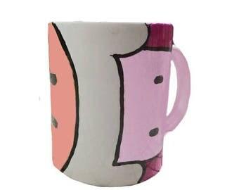 Adventure time hand painted mug