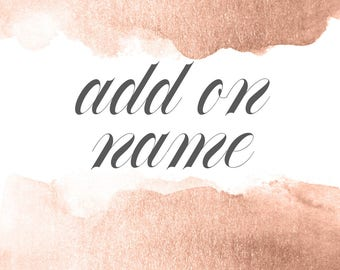 Add on a name to any listing