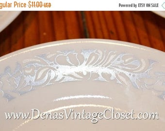 Summer Clearance Sale Vintage Corelle Sea and Sand Plates Bread and Butter Dessert Plates Lot of 3 White and Blue