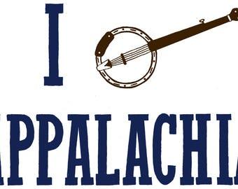 I Banjo Appalachia Sticker