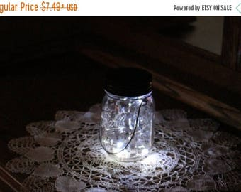 July Sales Event Mason Jar Solar Fairy Light - 10 LED Clear Angel Lights - Firefly Lights - solar mason jar, fairy lights, mason jar solar l