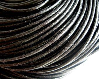 4 m 2mm black leather cord