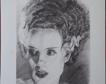 Bride of Frankenstein Limited Edition Fine Art Print