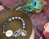 Catholic Bracelet * Catholic Jewelry * Beaded Bracelet * Blessed Mother Fiat Bracelet * Catholic Jewelry