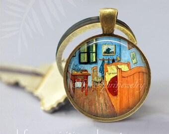 "Van Gogh ""Bedroom"" Cuff Links, Fine Art Cuff Links, Men's accessory, Van Gogh Painting cuff links, Impressionism, Gift for men"