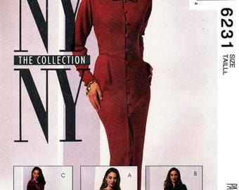 McCall's 6231 NY Vamp Figure Flattering Dress, Tunic & Pants / 1992 SZ8 UNCUT