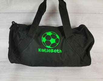 Personalized SOCCER Duffel/Gym  Bag. Soccer team, soccer bag, sports bag, duffel bag with long strap, soccer gift, soccer team bag
