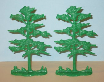 Vintage MARX Scraggly Tree Lot of 2