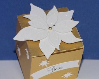 Box chocolate poinsettia