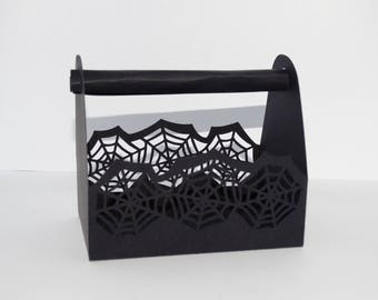 Box basket halloween Spider Web