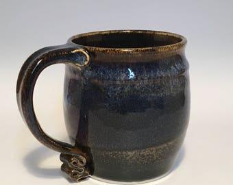 Blue and warm mug