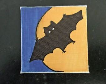 Halloween Tiny Magnet #4 Original Illustration on Canvas Board