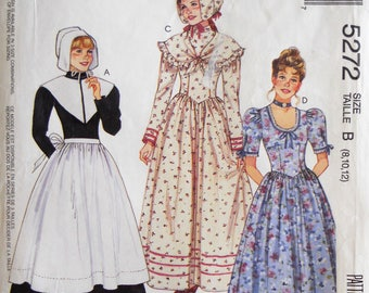 pioneer woman clothing. mccall\u0027s 5272. misses pilgrim pattern. pioneer dress revolutionary war woman clothing