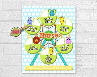 Whereu0027s The School Nurse Door Sign, School Nurse Print, School Nurse Gift,  Instant