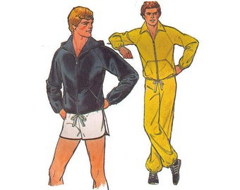 Simplicity 8360 Sewing Pattern, 38-40 Hooded Jacket Pants And Shorts Men's Athletic Pants