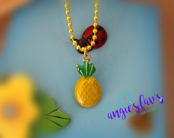 Ball Chain Necklaces, Pineapple Pendant