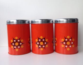 Vintage seventies storage containers