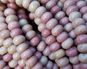 Natural Rhodonite Abacus/Rondelle Beads, 8x5mm, 15.5'' Strand