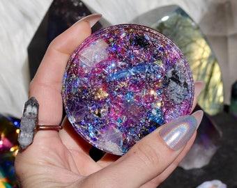 Orgonite® - Flower of Life - Charging Plate - Handmade - Orgone Generator® - Crystals - Gift - EMF Protection - Quartz - HoodXHippie