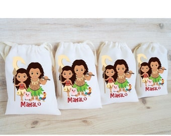 Hawaiian party etsy moana maui favor bags hawaiian party favors personalized party gift bags loot bags goodie bags birthday negle Gallery