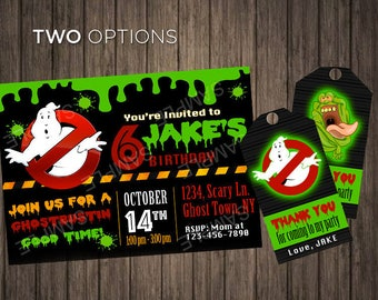 Ghostbusters Party Invitation Instant Printable Invitations Ghostbuster Birthday Invite Printable Digital Party Supplies Ghost Party Theme
