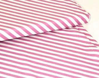 Pink Stripes - Organic Cotton Jersey - Story Of Roo UK Seller